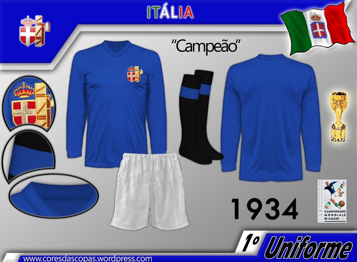Esse uniforme foi usado nas cinco partidas disputadas pelos italianos nesse  mundial 626c9d92bb1c4